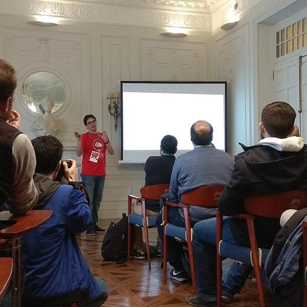 Dario Balbontín en la WordCamp Santander 2017