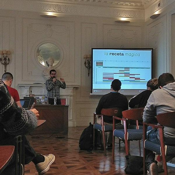 Joan Artés en la WordCamp Santander 2017