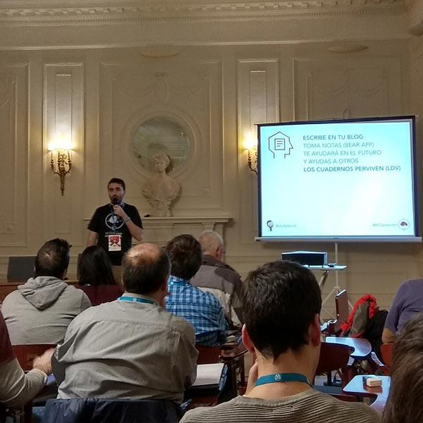 Juan Hernando en la WordCamp Santander 2017