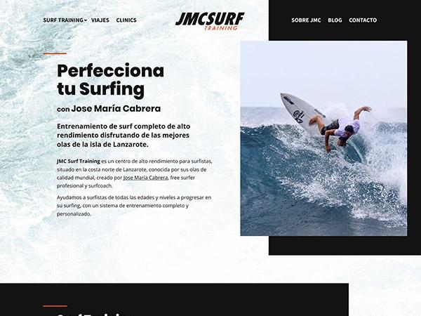 Diseño y desarrollo de sitio web basado en WordPress para JMC Surf Training